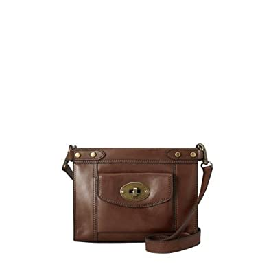 Fossil Women's Vintage Revival Crossbody Color: ESPRESSO