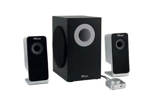 Trust Soundforce 2,1 Pro, 2,1-Kanal Multimedia-Lautsprechersystem für den PC, 24 Watt (Gesamt)
