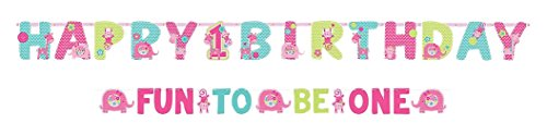 Amscan One Wild Girl 1st Birthday Banner