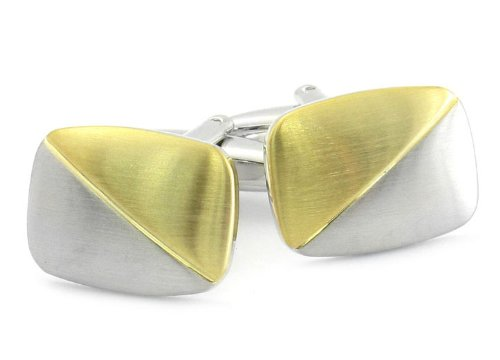 Gold Silver Pillow Cufflinks