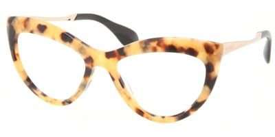 Miu Miu MIU MIU Eyeglasses MU 01MV PC81O1 Light Havana Gold 54MM