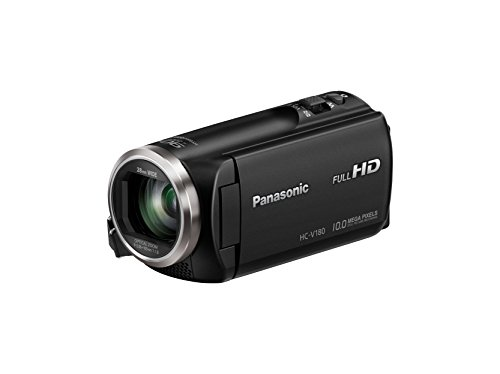 Best Review Of Panasonic HC-V180K Full HD Camcorder with 50x Stabilized Optical Zoom (Black)