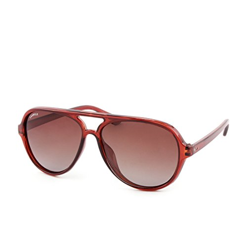 Laurels Polarized Over-Sized Unisex Sunglasses -(MS-0202|Brown Lens)