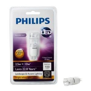 Philips 2.5-Watt (10-W) T3 Outdoor Landscape Capsule Bright White (3000K) LED Light Bulb- (12 Pack)