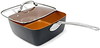 Gotham Steel Deep Square Frying Pan Set