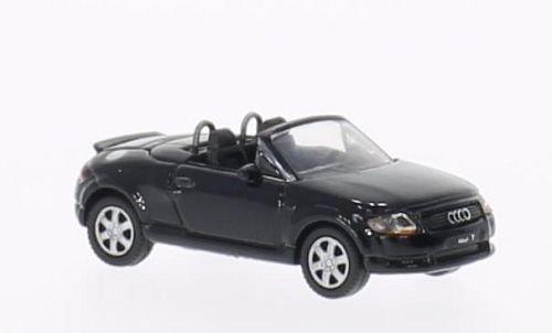 Audi-TT-Roadster-schwarz-Modellauto-Fertigmodell-Welly-187