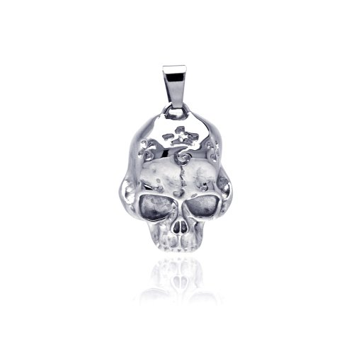 **Lead Free** Stainless Steel High Polish Skull Design Fashion Charm Pendant