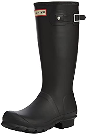 Hunter Originals Black Youths Boots 5 US