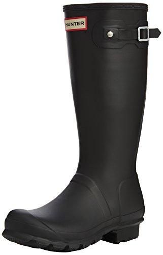 Hunter - Original Kids Wellington Boots, Stivali per bambini e ragazzi, Nero, 35/36 EU