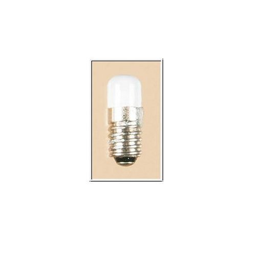 Auhagen 55754 Lampe mit Schraubsockel, weiß, Zylinderkopf, E 5,5, 16 V, 0,05 A