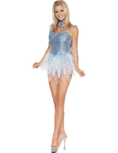 Fairy Blue Glitter Md Adult Womens Costume