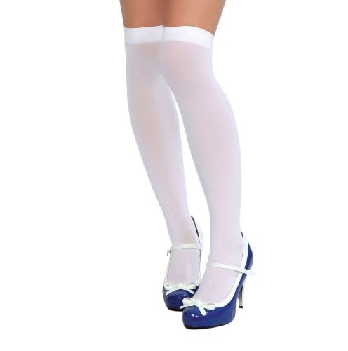 Roma Costume Women's Thigh High Stockings, White, One Size - 1