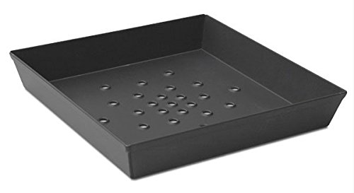 LloydPans Kitchenware USA Made Hard Anodized 12 Inch By 12 by 2 Inch Perforated Deep Dish Pizza Pan