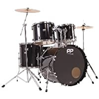Performance Percussion PP300BLK 5 Piece Drum Kit - Black from Performance Percussion