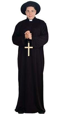Priest Men's Costume Adult Halloween Outfit ?