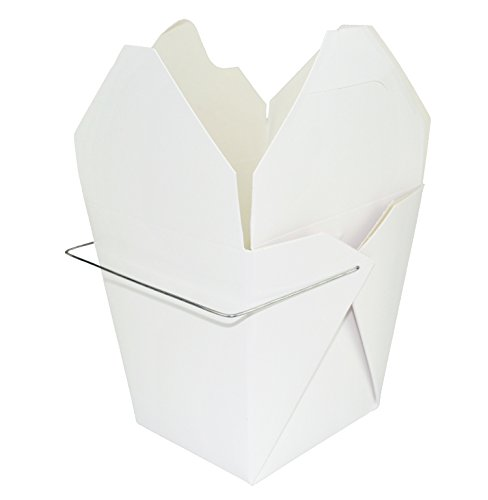 Chinese Take Out Food Boxes: 32 Oz. (1 Quart) 50 Pack - White