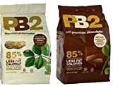PB2 Powdered Peanut Butter and Chocolate Peanut Butter  - 85% Less Fat and Calories - 16 Oz Each - 2 Pack