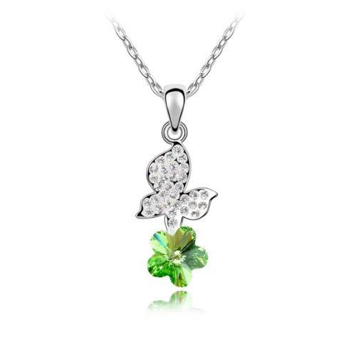 Boxingcat Fine Jewelry Swarovski Style Clear Austrian Crystal Pendant Necklaces Bgca4737 front-712502