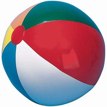"12"" Multicolored Beach Ball  - 12 Pack - 1"