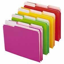 SMD11925 - Smead 11925 Assortment Neon Colored File Folders