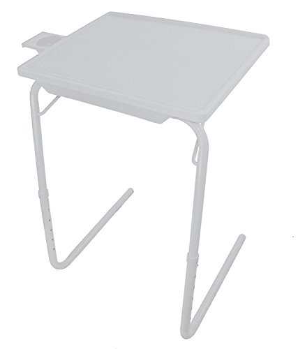 NEW SMART FOLDING TABLE MATE WITH CUP HOLDER AND DRAWER AS SEEN ON TV PORTABLE ADJUSTABLE TV DINNER TRAY TABLEMATE (Kids Metal Tv Tray compare prices)