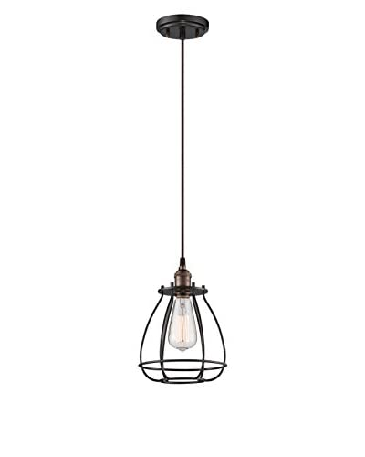 Nuvo Lighting Vintage Cage 1-Light Pendant, Rustic Bronze