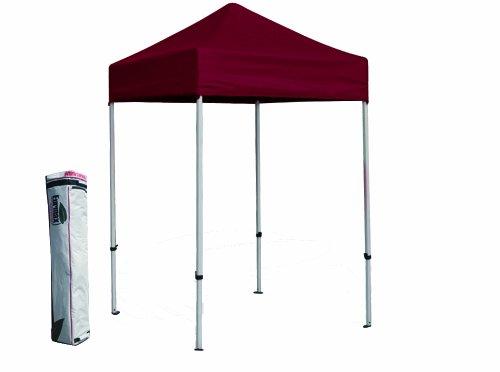 Eurmax Basic 5x5 Ez Pop up Canopy Tent Gazebo with Carry Bag (Burgundy) image