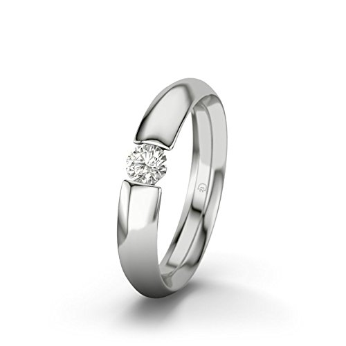 21DIAMONDS Women's Ring Grenoble SI1 0.75 ct Brilliant Cut Diamond Engagement Ring, 9ct White Gold Engagement Ring