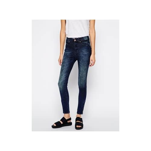Dr Denim Domino High Waist Skinny Jeans With Ankle Zips 並行輸入品