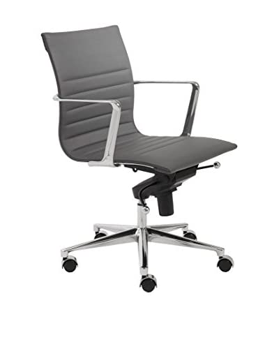Euro Style Kyler Low Back Office Chair, Grey