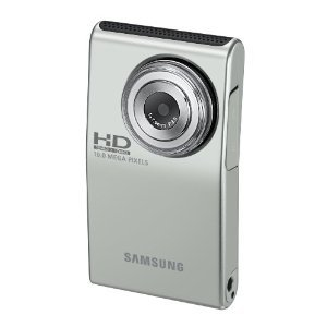31vShFebP0L Samsung HMX U10 Ultra Compact Full HD Camcorder with 10 MP Still (Green)