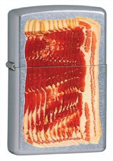 Zippo Meaty Slices Bacon Lighter Street Chrome 