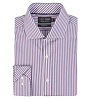 2in Shorter Performance Pure Cotton Non-Iron Bold Textured Striped Shirt