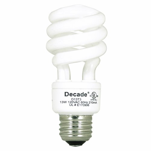 Decade Bulb D13t3  Twist Watt Replacement High Quality Table Lamps Watt