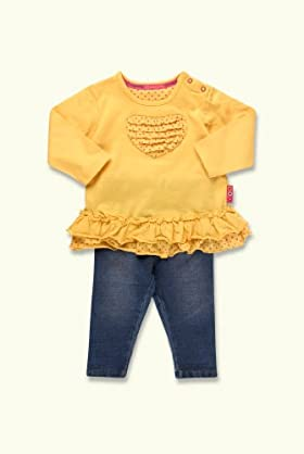 2 Piece Cotton Rich Frilled Tunic & Jeggings Outfit [T78-7729T-Z]