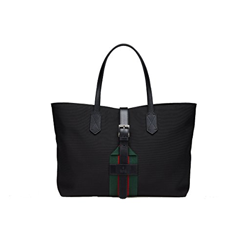Gucci Black Techno Canvas Tote Bag, 337070