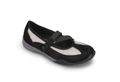 Propet Women's Zigzag,Black/Pebble Grey,6 M (B) US