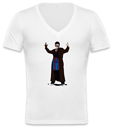 Doc In A Box Unisex Deep V-Neck T-Shirt Xx-Large