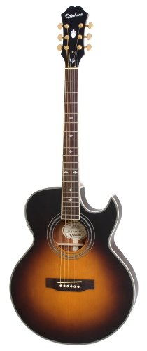 Epiphone PR-5E Acoustic-Electric Guitar, Shadow Preamp, Vintage Sunburst