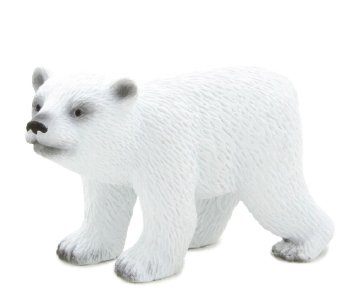 1 X Mojo Fun 387020 Polar Bear Cub Walking - Realistic International Wildlife Toy Replica
