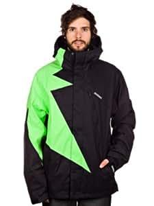 Zimtstern Herren Jacket Snow Flash, black/lime, S, 7710201656303