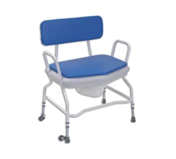 Extra Wide Shower & Commode Chair - Adjustable Height with Detachable Arms from NRS
