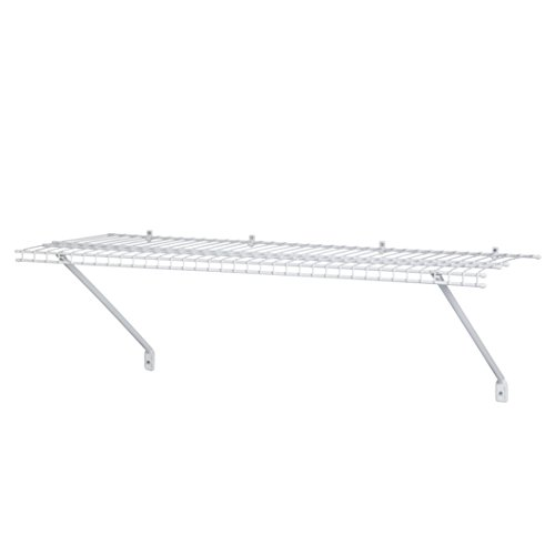 ClosetMaid 1031 3ft. by 12in. Wire Shelf Kit, White (Wire Wall Shelving compare prices)