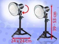 Stativ Fotolampen mit Tageslichtleuchte 5400K – Hocheffiziente Fotolampen mit Tageslicht-Energiesparleuchten im Spar-Set