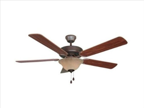 Yosemite Home Decor CALDER-ORB-1 52-Inch Ceiling Fan with Light Kit and Walnut/Wengue Blades, Oil Rubbed Bronze