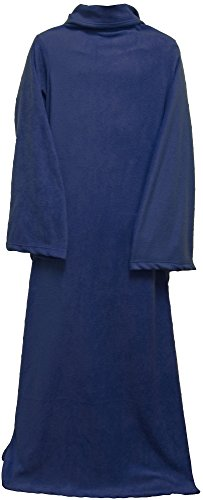 AshopZ Warm Winter Sofa Snuggle Sleeved Fleece Throw Blankets, Cobalt Blue