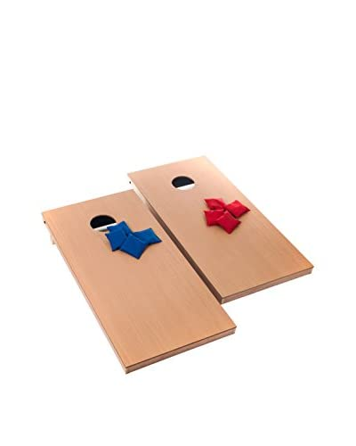 Trademark Games Official Size Cornhole Game, Tan/Blue/Red