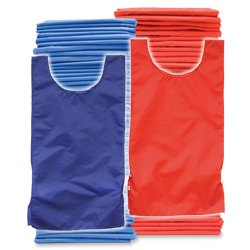 Youth Pinnies 72 Pack Blue Red (PAC) by SSG