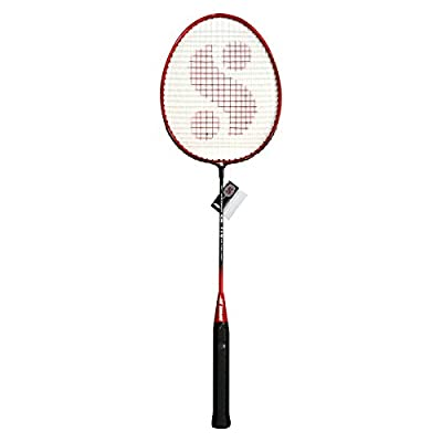 Silver's SB-119 Badminton Racquet in 1/2 Cover, Senior G3 (Red/Black)