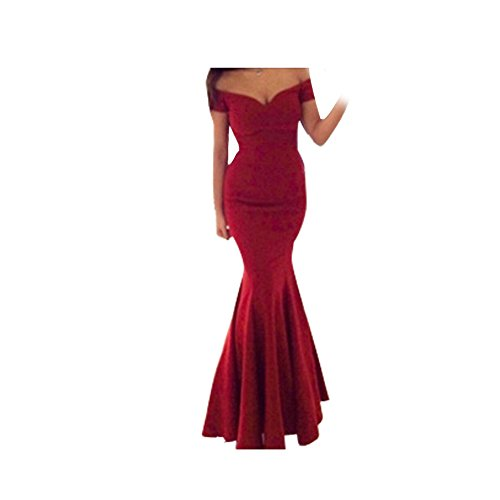 Janecrafts Women'S Slim Strapless Cocktail Party Mermaid Evening Dress Gown
